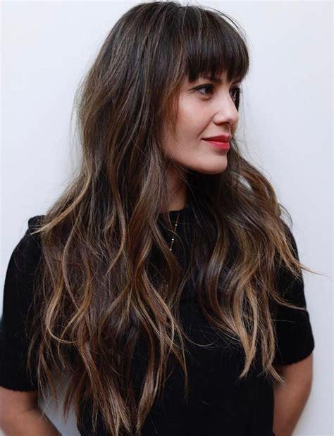 50 cute long layered haircuts with bangs 2019 50 cute and effortless long layered haircuts with bangs in