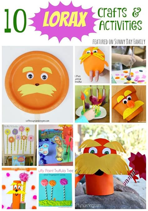10 lorax crafts amp activities for preschoolers day 748 | 710260a6f943974e5639125fc58819dd
