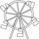 Ferris Wheel Coloring Drawing Pages Simple Printable Drawings Carnival Pencil Designlooter Comments Getcolorings Paintingvalley Coloringhome 607px 95kb Starry sketch template