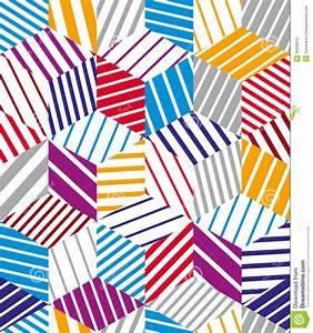 3d Cubes Seamless Pattern, Geometric Stock Vector - Image ...