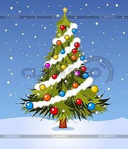 Geschmückter Weihnachtsbaum Fotos : geschm ckter weihnachtsbaum stock vektorgrafik cliparto ~ Articles-book.com Haus und Dekorationen