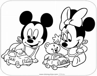 Mickey Minnie Coloring Pages Disneyclips Toys Babies