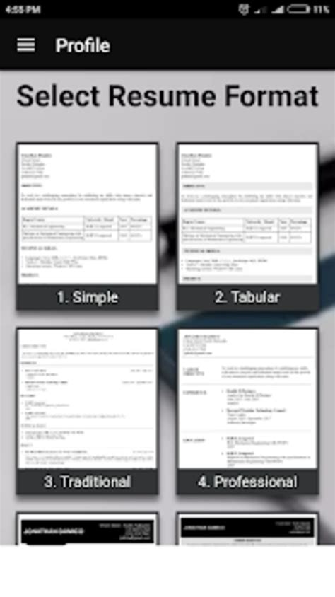 Free Resume Builder Pdf by Free Resume Builder Cv Maker Templates Pdf Formats For