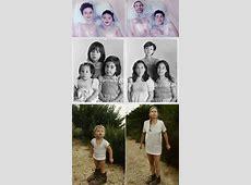 Klasse Idee alte Kinderfotos Jahre später nachstellen