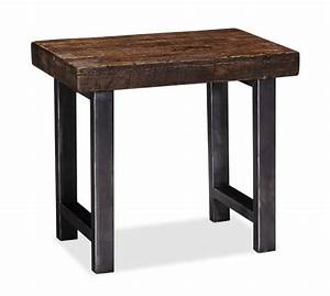 Griffin Reclaimed Wood Side Table Pottery Barn