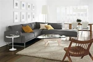 Graue Couch Wohnzimmer : wohnzimmer grau sofa ~ Michelbontemps.com Haus und Dekorationen
