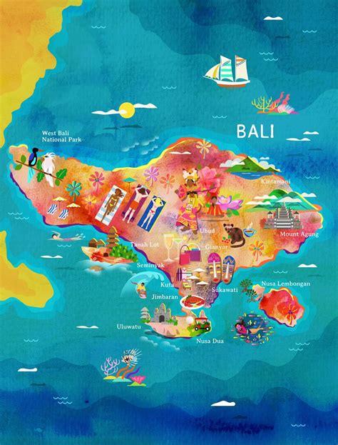 map  bali  garuda indonesias inflight magazine