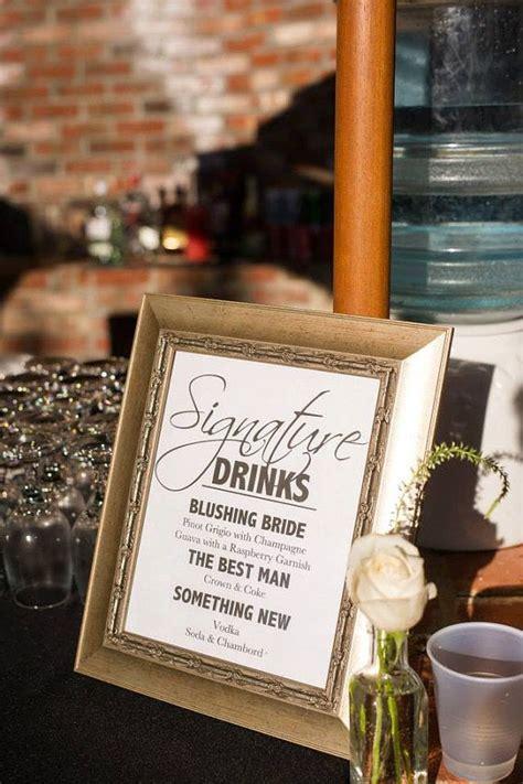 wedding signature drink sign wedding signature cocktail