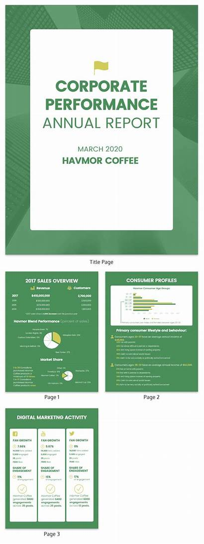 Report Annual Corporate Template Templates Examples Yearly