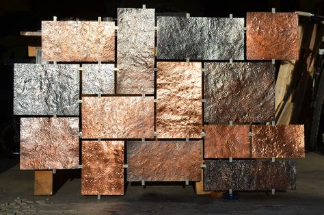 hammered copper wall art