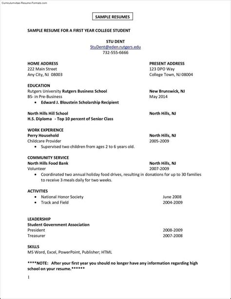 Resume For 1st Template by Resume Template Free Sles Exles