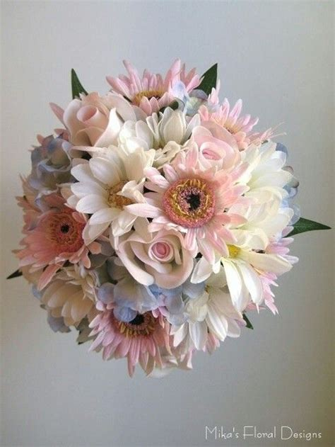 Love This Bouquet White Gerber Daisies Pastel Pink