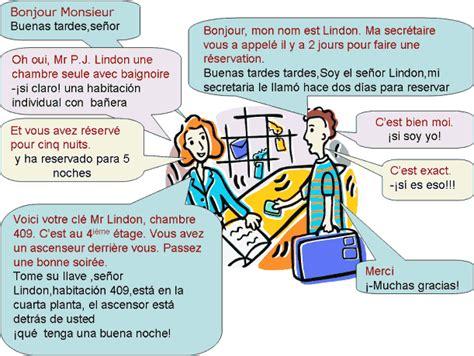 traduction chambre espagnol dialogue llegando al hotel