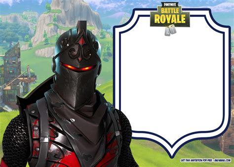fortnite invitation templates bagvania