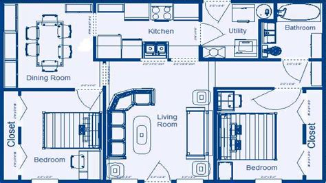 2 Bedroom House Floor Plans With Dimensions 2 Bedroom