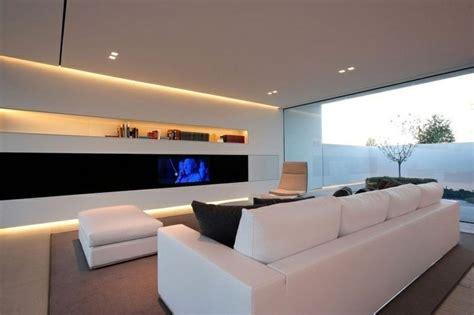 wohnzimmer modernes design indirekte led beleuchtung