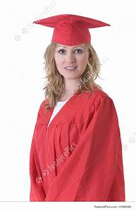 Certificate Of Accomplishment Image Of Graduate In Red Cap And Gown