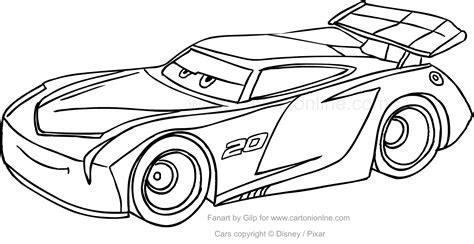 disegni da colorare per bambini cars disegno di jackson di cars da colorare