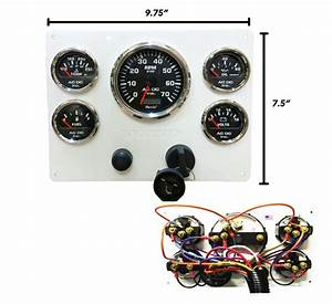 7k Rpm Volvo Penta Engine Instrument Panel  Black Gauges  U2013 Ac Dc Marine Inc