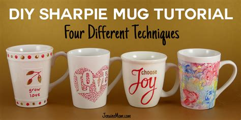 DIY Sharpie Mugs for Easy Personalized Gifts   JenuineMom.com