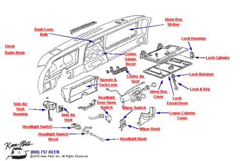 Interior Light Wiring Diagram For 1993 Corvette by 1953 2019 Corvette Instrument Panel Parts Parts