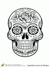 Crane Mexicain Dessin : coloriage cr nes en sucre du mexique sur printables skull coloring pages ~ Melissatoandfro.com Idées de Décoration