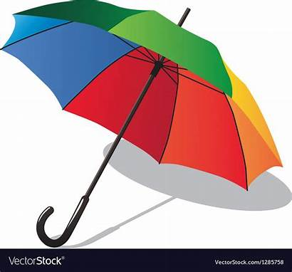 Umbrella Colorful Vector Clipart Rainbow Royalty Vectorstock