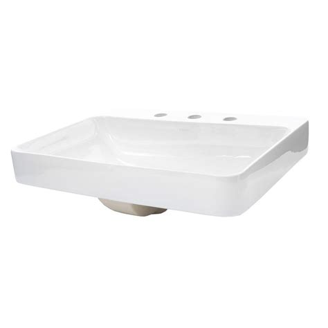 kohler vox above counter vitreous china bathroom sink in