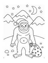 Christmas Coloring Yeti Pages sketch template