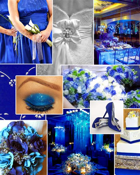 blue and silver theme bridal style and wedding ideas wedding with royal blue centerpieces