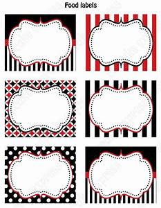 Pirate Birthday Party PRINTABLE Food Labels favor tags Red ...