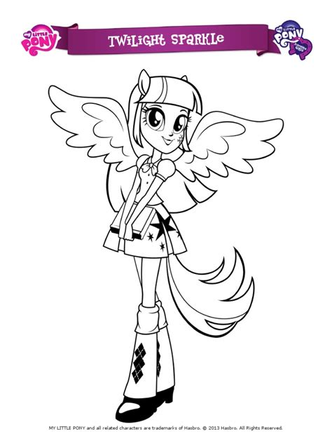 pony equestria girls coloring pages
