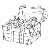 Treasure Chest Coloring Pirate Drawing Pages Colouring Getdrawings sketch template