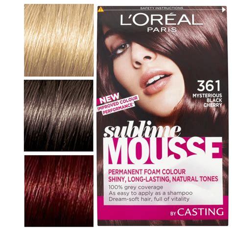 hair color mousse l oreal sublime mousse permanent colour