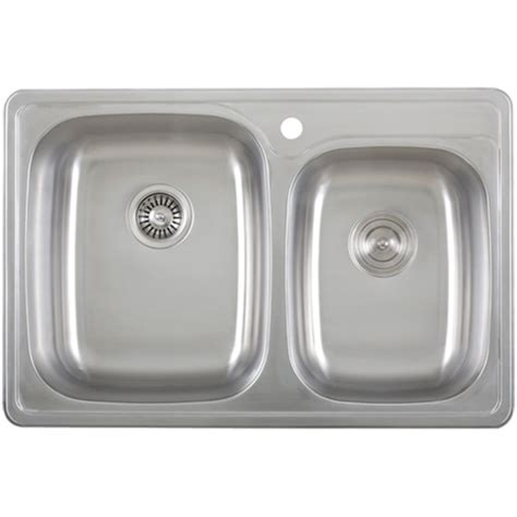 Overmount Kitchen Sinks Stainless Steel by Ticor S995 Overmount 18 Stainless Steel Kitchen Sink