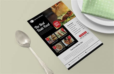 food flyer design print ready template