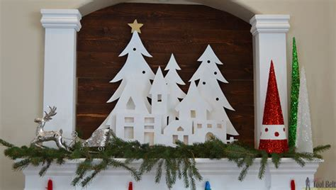 christmas village trees silhouette template diy christmas village silhouette mantel decor her tool belt