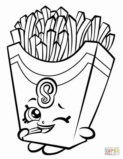 Coloring Fries Shopkin Pages Fiona Printable Drawing
