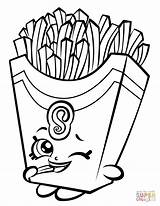 Coloring Fries Shopkin Pages Fiona Printable Drawing Paper Games sketch template