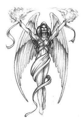 Free angel tattoo designs to print