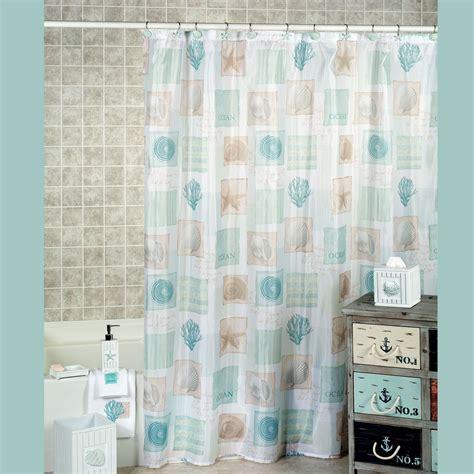 seaside seashell coastal shower curtain