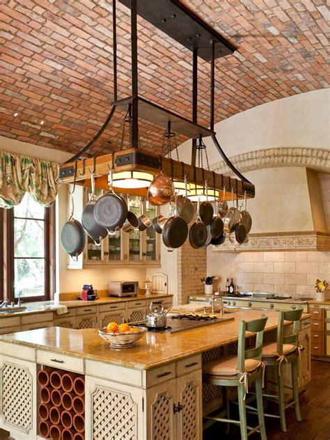 customize kitchen pot racks   island