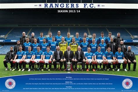 Team Photo 2013/14, Rangers Football Club Poster - PopArtUK