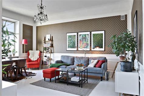 eclectic scandinavian living room