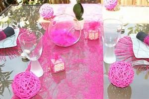 Decoration Pour Bapteme Fille : chemin table abaca chemin table mariage chemin table jetable chemin table pas cher ~ Mglfilm.com Idées de Décoration