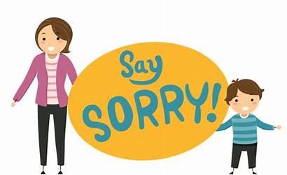 Clipart Teach Sorry Act 2002 Say Children