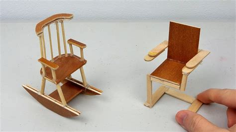 diy miniature wooden chairs simple easy crafts ideas