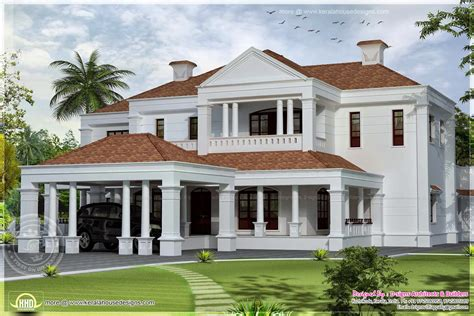 villa style homes 5900 sq ft colonial style villa exterior elevation home