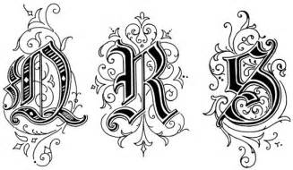 Old English Style Letters
