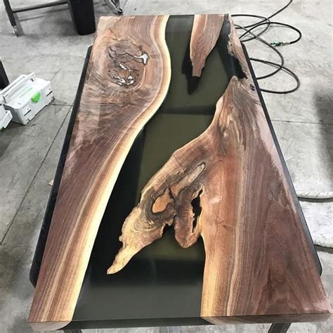 black epoxy coffee table   wood resin table diy